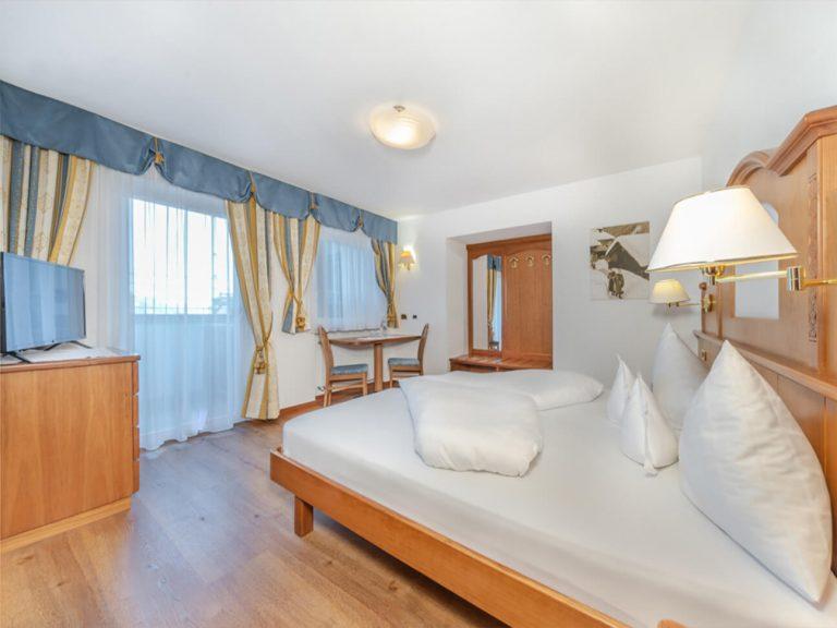 Camera Standard dell'Hotel Scoiattolo di Selva Val Gardena